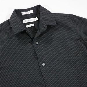 Calvin Klein Slim 14 Black Stripe Button up